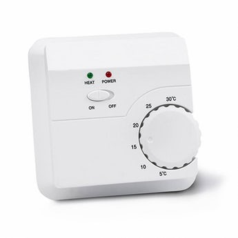 Manual thermostat for underfloor heating mats