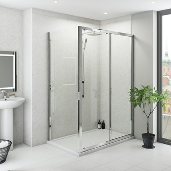 Multipanel Classic Grey Marble Hydrolock shower wall panel