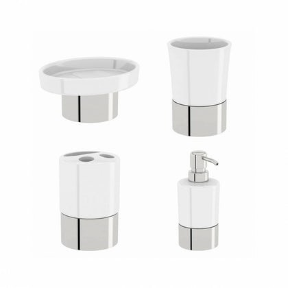 Options White Ceramic Basin Accessory Set