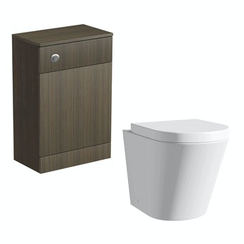 Orchard Arden walnut back to wall toilet unit and Arte toilet with seat