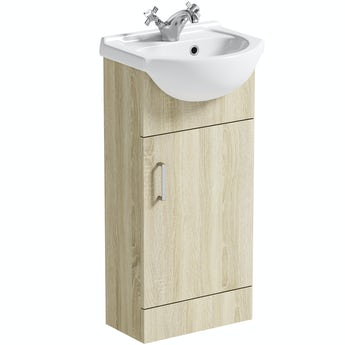 Eden oak vanity unit and basin 410mm