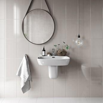 Linear sand beige gloss tile 248mm x 398mm