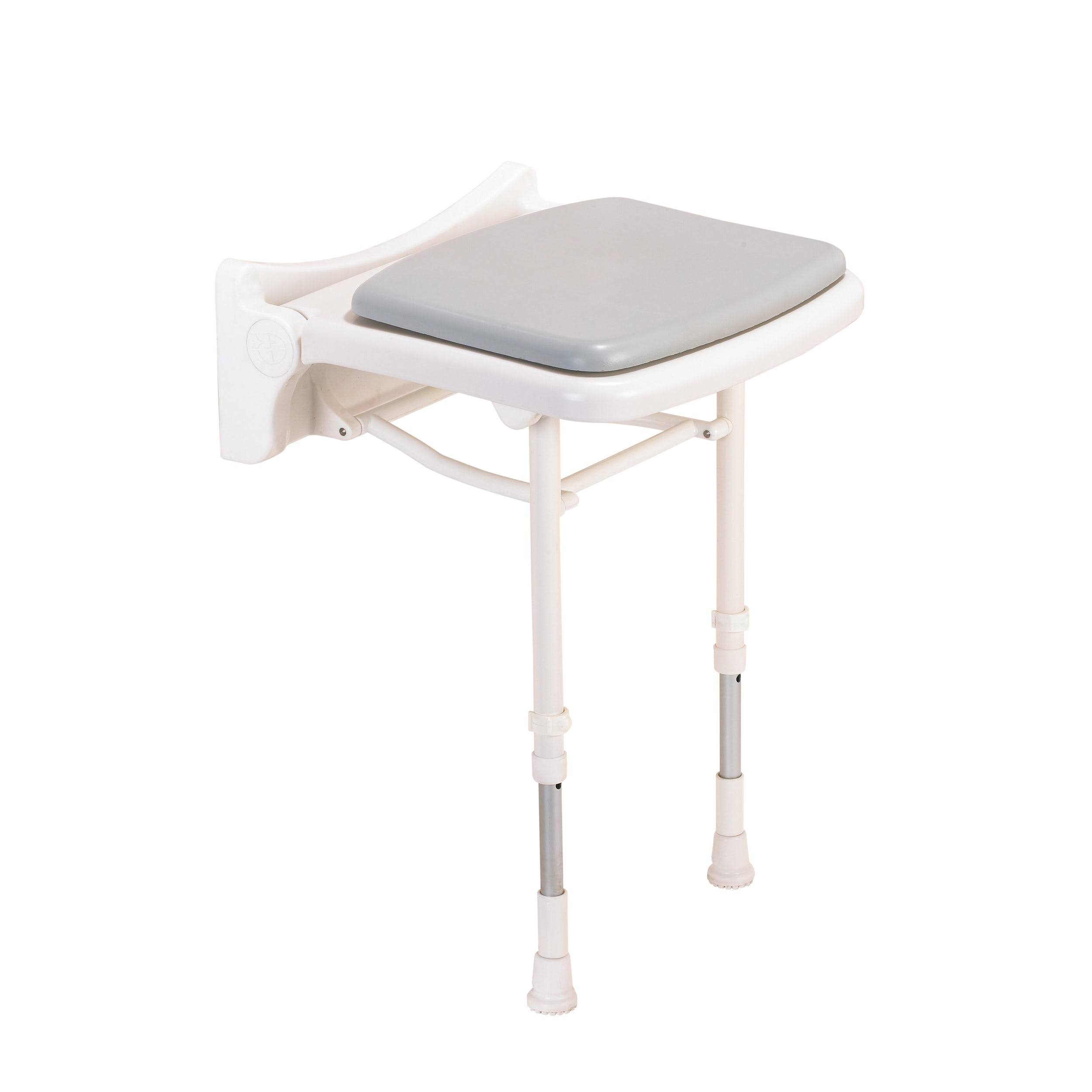 AKW 2000 series pact folding shower seat with grey pad