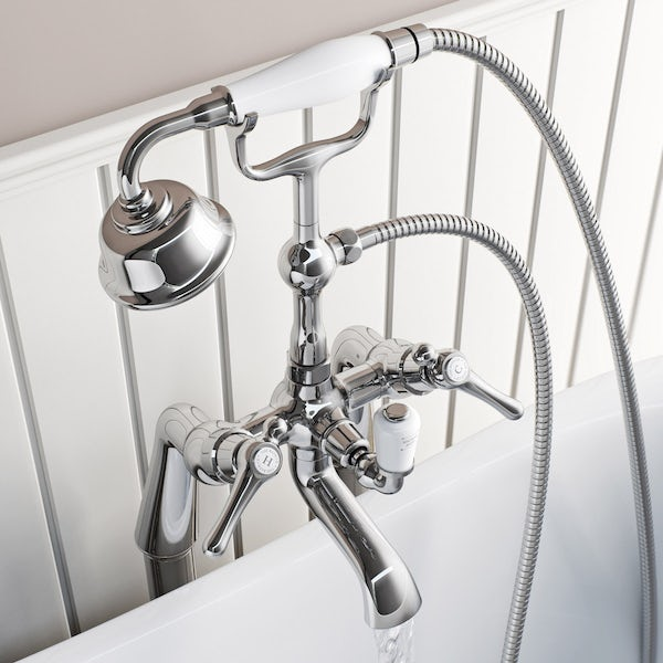 The Bath Co. Camberley lever bath shower mixer tap offer pack