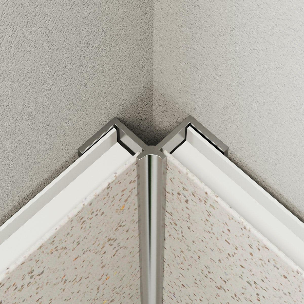 Multipanel Economy type V shiny silver internal corner profile