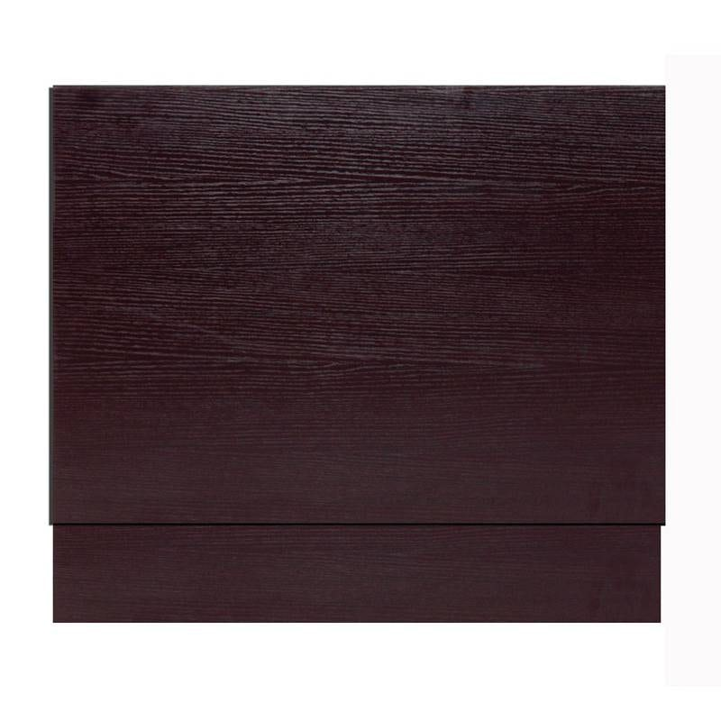 Wenge effect wooden straight bath end panel 700mm