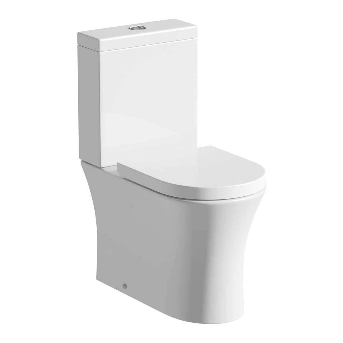 Mode Hardy rimless close coupled toilet inc soft close seat