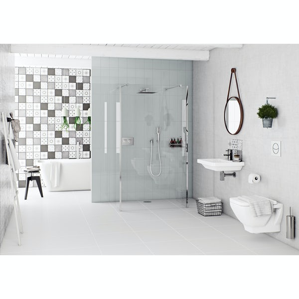 Mode Verso back to wall bath