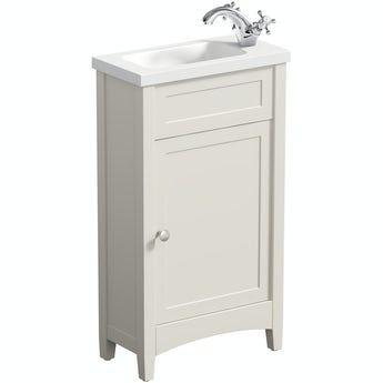 The Bath Co. Camberley ivory cloakroom vanity with basin 450mm
