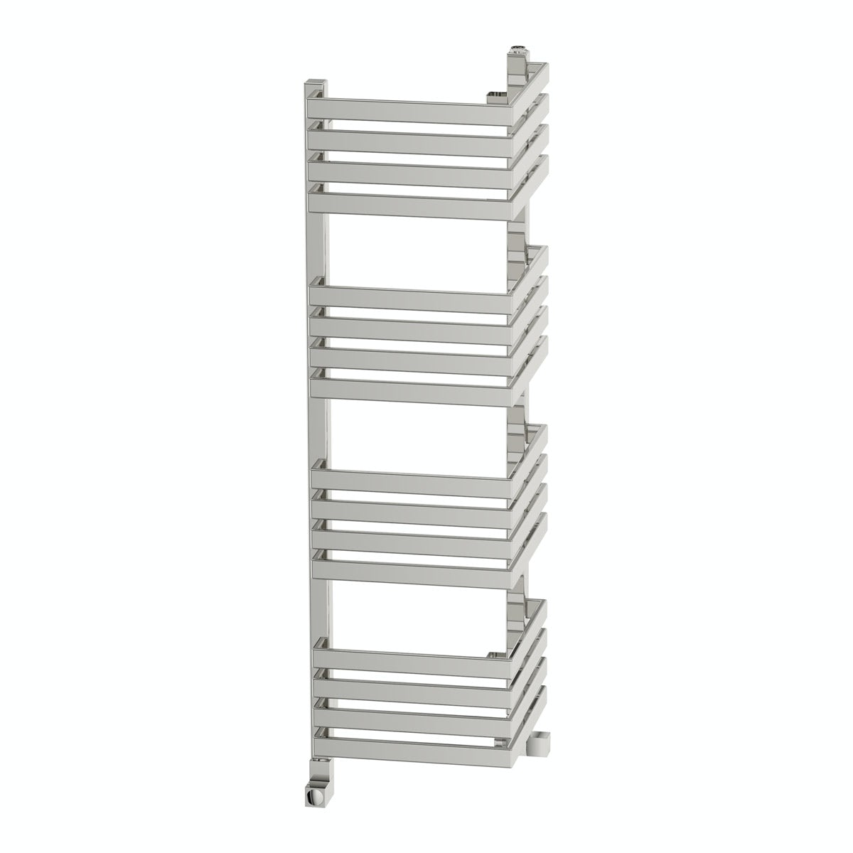 Terma Outcorner chrome effect heated towel rail 1005 x 300