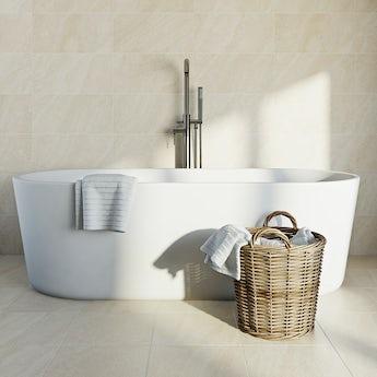 Pumice light beige matt tile 248mm x 498mm