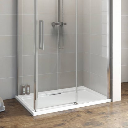 Designer rectangular stone shower tray 1000 x 800 - Shallow shower tray ...