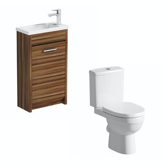 Smart Compact Walnut Unit with Energy Toilet