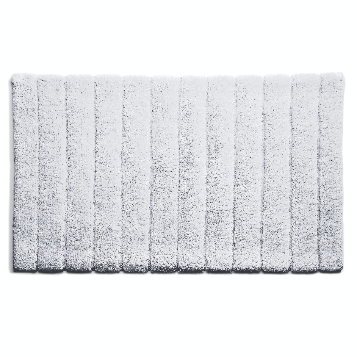 Hug Rug luxury bamboo stripe white bathroom mat 50 x 80cm