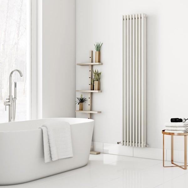 Dulwich vertical white triple column radiator 1800 x 380