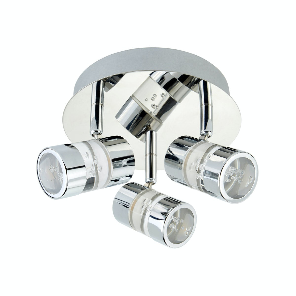 Searchlight Bubbles effect 3 light bathroom ceiling light