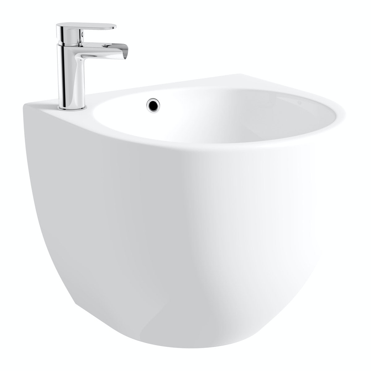 Mode Harrison 1 tap hole wall hung basin 500mm with waste