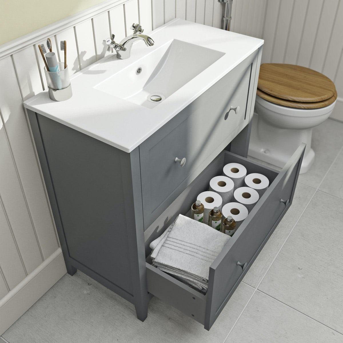 Bathroom basin vanity units
