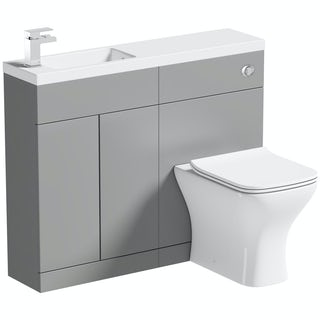 Mode MySpace Slim slate combination with contemporary square toilet