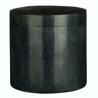 Black marble storage jar