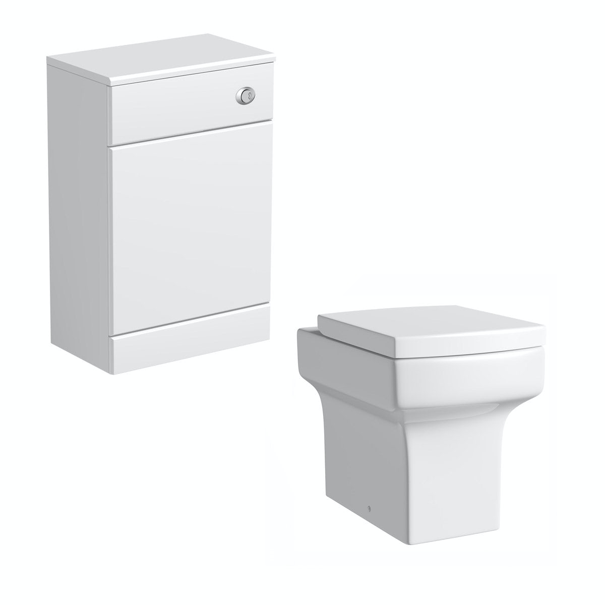 Orchard Eden white back to wall unit with contemporary square toilet and seat
