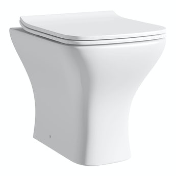 Compact Square back to wall toilet with soft close slim toilet seat