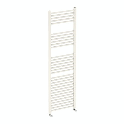 Eden round white heated towel rail 1600 x 500