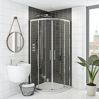Rand 8mm easy clean sliding quadrant shower enclosure
