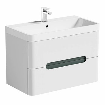 Mode Ellis select slate wall hung vanity drawer unit and basin 800mm