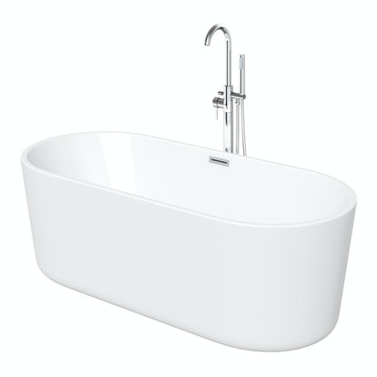 Ocean freestanding bath small for Small baths 1100