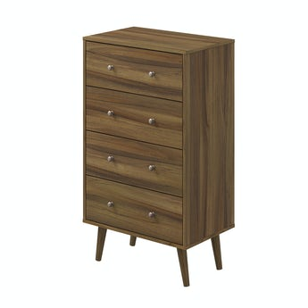 MFI Helsinki Walnut 4 drawer chest
