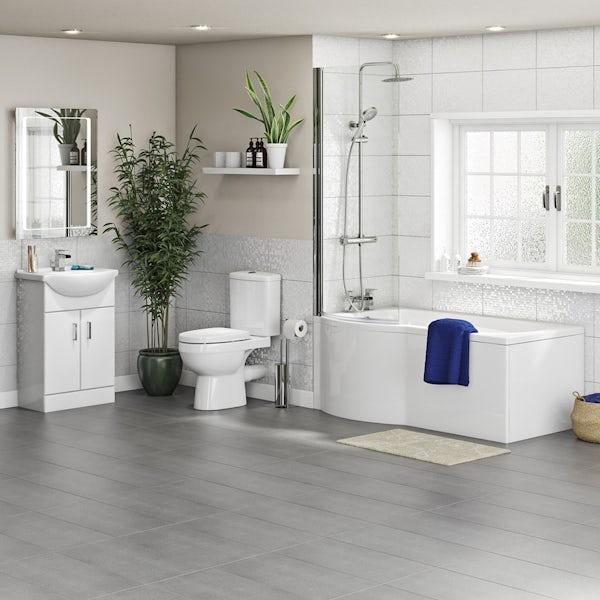 Orchard Eden complete left handed shower bath suite