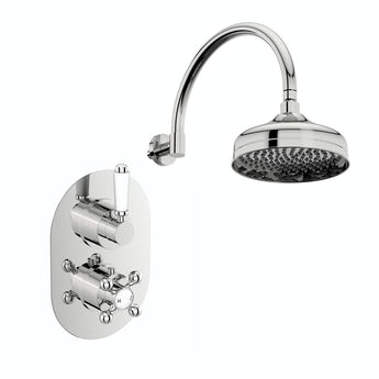 The Bath Co. Coniston thermostatic shower valve with wall shower set