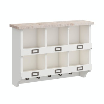 Reeves Austin white 6 hole wall storage rack