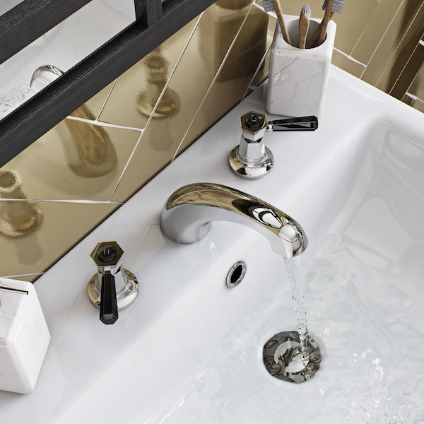 The Bath Co. Beaumont lever 3 hole basin mixer tap offer pack