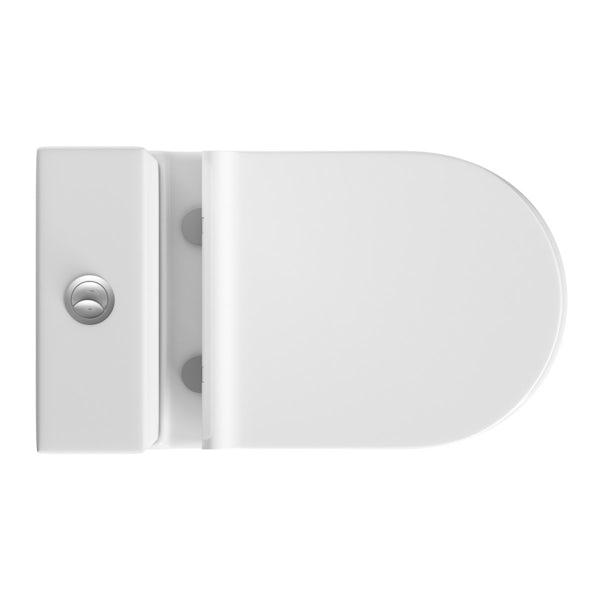 Mode Harrison slimline close coupled toilet and full pedestal basin suite