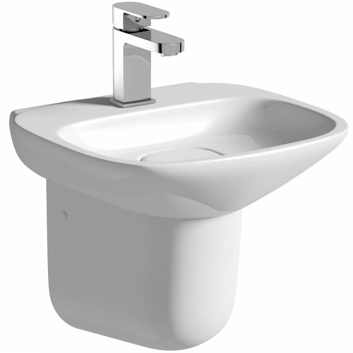 Mode Fairbanks semi pedestal basin 400mm