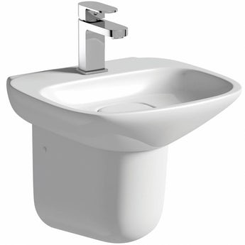 Mode Fairbanks 1 tap hole semi pedestal basin 400mm