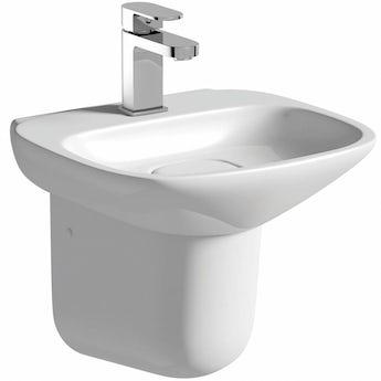 Mode Heath 1 tap hole semi pedestal basin 400mm