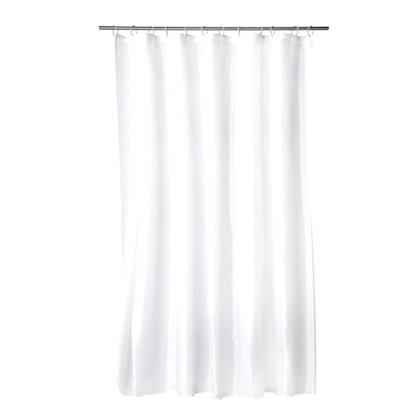 Croydex plain frosty PVC shower curtain