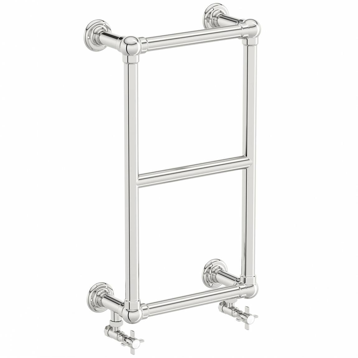 The Bath Co. Winchester wall mounted heated towel rail 700 x 400 offer pack
