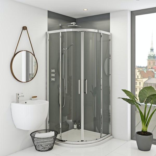 Zenolite plus ash acrylic shower wall panel 2440 x 1220