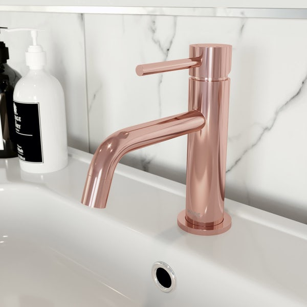 Mode Spencer round rose gold basin mixer tap offer pack