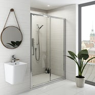 Mode Ellis premium 8mm easy clean sliding shower door 1400mm