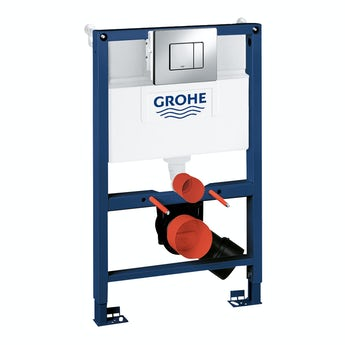 Grohe Rapid SL Set 3 in 1 wall mounting frame with square button Skate Cosmopolitan push plate 0.82m