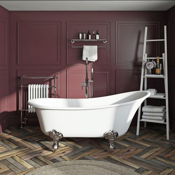 The Bath Co. Camberley freestanding slipper bath with ball feet