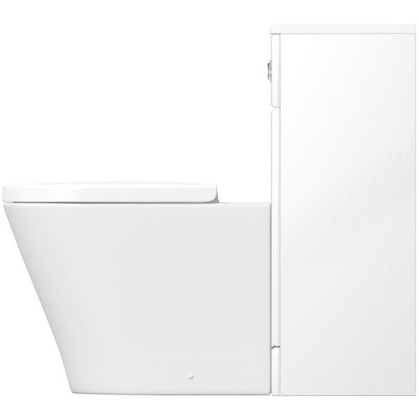 Eden white slimline back to wall unit with Mode Arte toilet