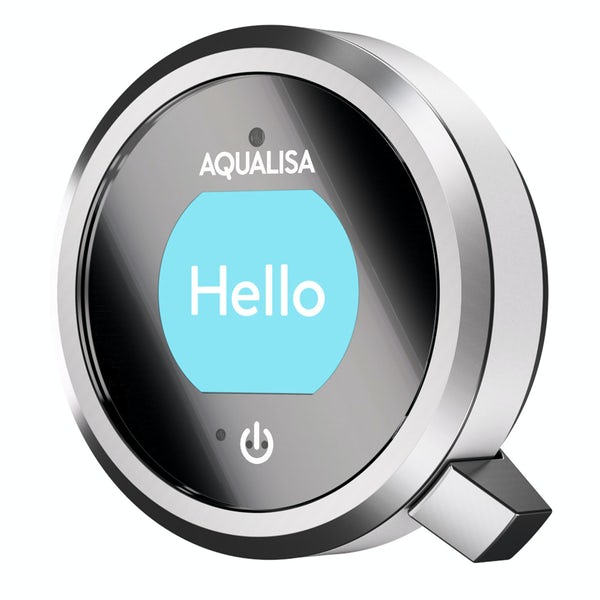 Aqualisa Q concealed digital shower pumped with slider rail and wall arm