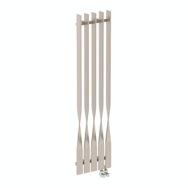 Cyklon oyster grey vertical radiator 1600 x 410