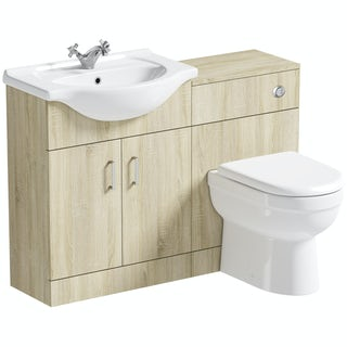 Orchard Eden oak 1140 combination with back to wall toilet and seat